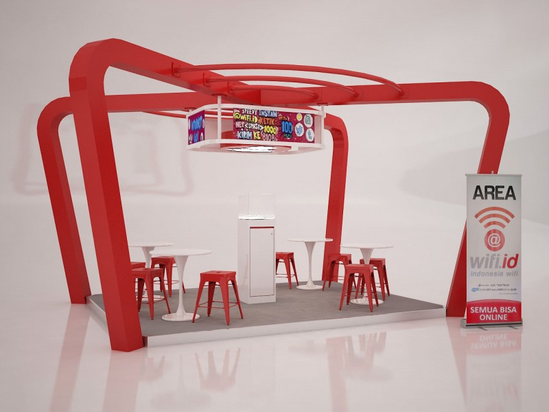 Telkom wifi.id Booth Design